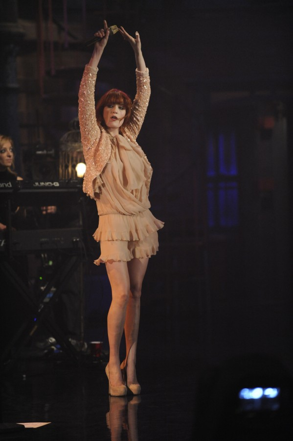 Florence and the Machine at the Ed Sullivan Theater, Dec. 16, 2010; photo by Jeffrey Neira/CBS