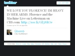 Twitterverse Loves Florence and the Machine's Live on Letterman Concert