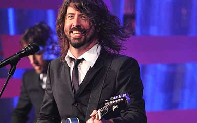 Dave Grohl and Foo Fighters Live on Letterman (John Paul Filo/CBS)