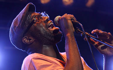 Tunde Adebimpe of TV On The Radio (Karl Walter/Getty Images)