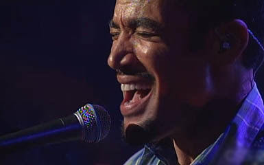 Ben Harper during his Live on Letterman showcase