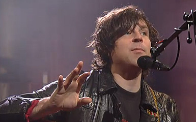 ryan face 385 Ryan Adams Captivates The Ed Sullivan Theater Crowd For Powerhouse Live On Letterman Webcast