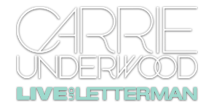 lol carrie underwood lockup horizontal Watch Carrie Underwood In An Exclusive, Intimate Live On Letterman Concert Webcast April 30